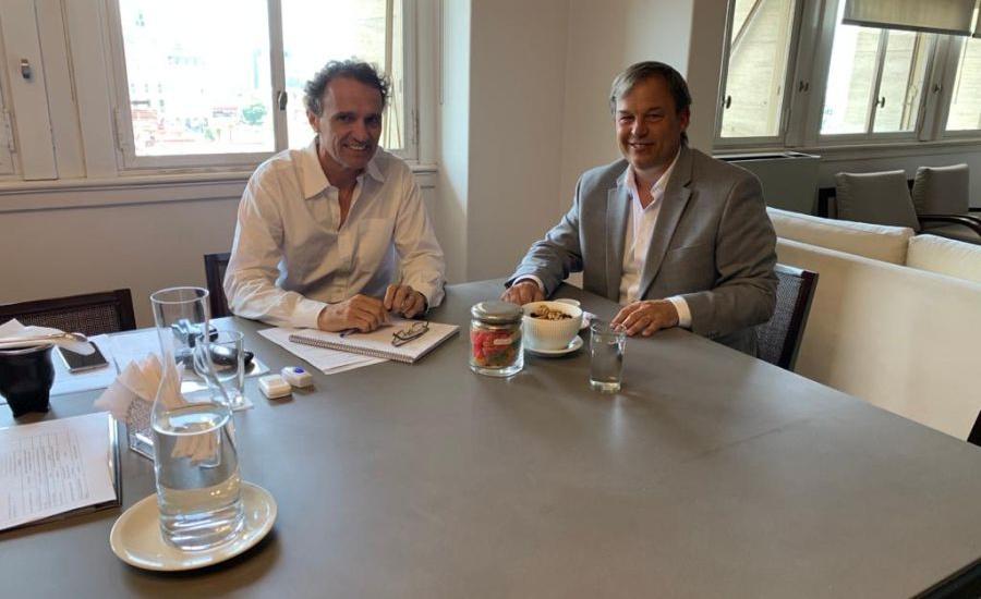 Cascallares multiplica reuniones para potenciar las obras en Alte Brown