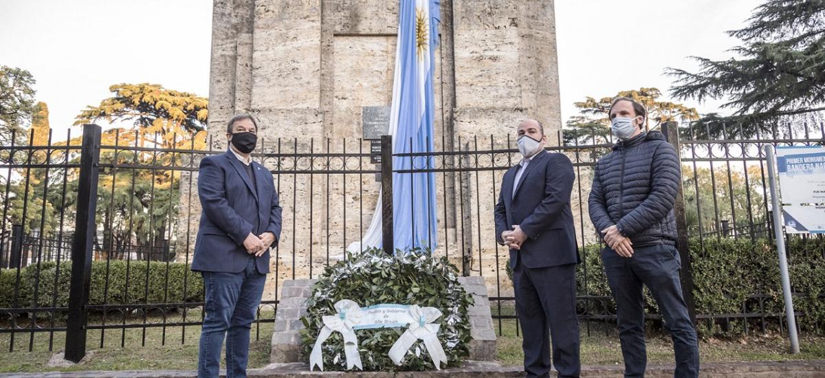 Cascallares y un emotivo homenaje a Manuel Belgrano a 250 años de su natalicio