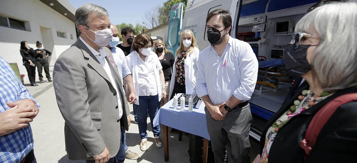 Cascallares y el ministro Kreplak recorrieron el Hospital Lucio Meléndez