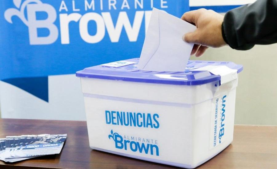 Los vecinos de Brown ya pueden denunciar puntos de venta de droga en las delegaciones municipales