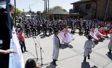 Junto a una multitud de vecinos, Cascallares encabezó festejos del aniversario de Glew