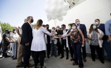 Kicillof y Cascallares encabezaron emotivo homenaje al personal de salud y recorrieron el Parque Industrial